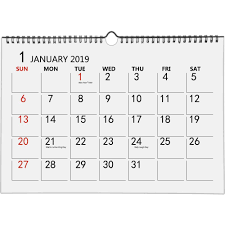 How To Make A School Calendar Ankuka Home Planner Calendar With Colorful Design For 2019 Wall Calendar Daily Planner Desktop Calendar Academic Year Planner For School Office