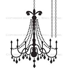 glamour chandelier vinyl wall decal