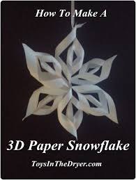 How To Make A 3d Snowflake Easy 3d Paper Snowflakes Toys In The Dryer