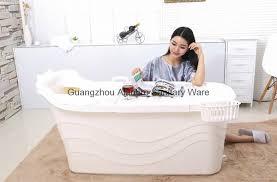 indoor portable bathtub food grade pp5 material plastic bathtub for