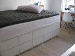 ikea storage bed frame. Seng Bygget Af 9 Stks Malm Kommoder Fra Ikea, 249 Kr Pr Stk. Ikea Storage BedBed Bed Frame