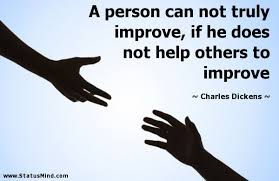Charles Dickens Quotes Extraordinary A Person Can Not Truly Improve If He Does Not StatusMind