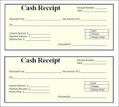 Printable Cash Receipt Template Blank Receipts Templates Blank