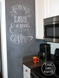 painting my kitchen wall with chalkboard paint