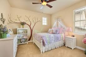 white furniture for girls. girls bedroom with wall mural and white furniture for r
