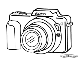 Small Picture Camera coloring page