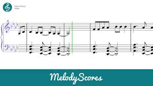 hello free piano sheet music piano adele hello sheet music youtube