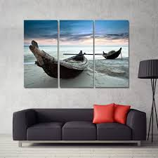 Painting Canvas For Living Room Online Buy Wholesale Oil Painting Boats From China Oil Painting