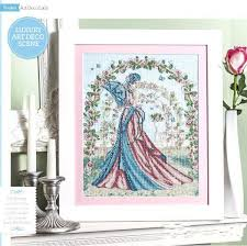 Art Deco Cross Stitch Charts Free Delivery Top Quality Lovely Counted Cross Stitch Kit Art Deco Beauty Rose Woman Lady Girl Bride Beauty Roses Arch Archway