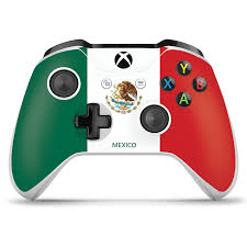 An xbox one controller with a usb cable. Xbox One Controller Skin Mexico Flag Controller Gear
