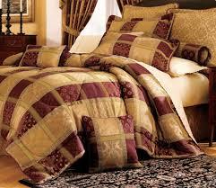 7 piece burdy jewel patchwork comforter set