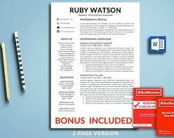 Free Minimal Clean Resume Template Word Creative Templates – Rigaud