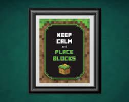 Minecraft Pictures To Print Phorest Studio Keep Calm Minecraft Poster Minecraft Print