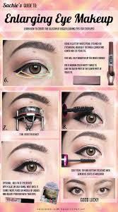 tutorial brows enlarging eye makeup for cosplay