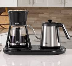 Easy switch with power indicator lights up to show coffee maker is on, or to remind you to shut it off compact design is great for small spaces; Mr Coffee Bring The Coffee House Home