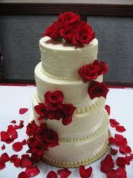 Red White Wedding Cake Kinds Of Cakes Onteevocom