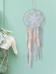 fringed handmade dream catcher wall hanging decoration