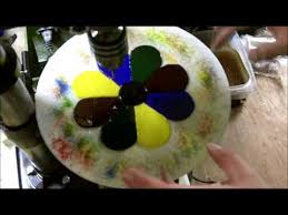 making fused glass wind chimes pt 1