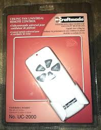 universal remote for ceiling fan and light control hunter 99110