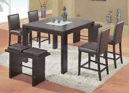 Contemporary Pub Table Set Dark Chocolate Contemporary Bar Table W Chairs Benches