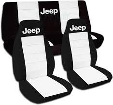 jeep wrangler black white car seat covers