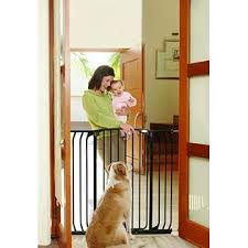 Dream Baby Dreambaby F191B Extra-Tall Swing Close Hallway Gate Black