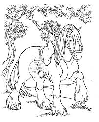 Disney Princess Merida Rides A Horse