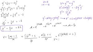 bernoulli diffeial equation example 1