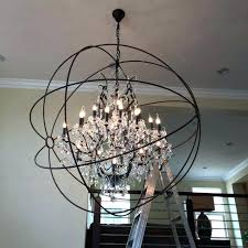 sphere chandelier with crystals plus crystal pertaining to plan 15