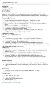 Grocery Store Produce Assistant Manager Resume Template Grocery