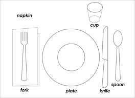 Table Setting Templates Place Setting Template Table Setting Diagram Place