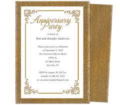 50th Anniversary Party Invitations Wedding Anniversary Party Templates Laurel Wedding