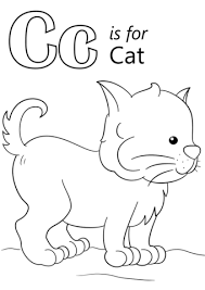 Small Picture Letter C is for Cat coloring page Free Printable Coloring Pages