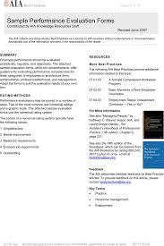 Performance Evaluation Form | Download Free & Premium Templates ...