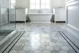 modern hexagon tile bathroom floor hex large
