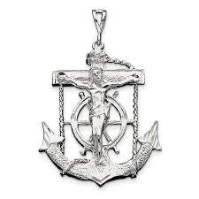 sterling silver mariner cross pendant