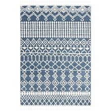 moroccan blue rug blue ivory tassel area rug 8 x free today blue