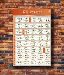 Details About Art Workout Stability Ball Bodybuilding Fitness Gym Chart Poster Hot Gift C3335