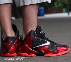 lebron xi. nike-lebron-xi-miami-heat-on-feet-images 4 lebron xi
