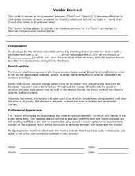 Sample Contract Summary Template