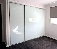 triple white glass sliding wardrobe doors