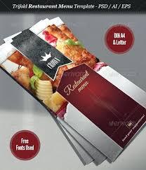 Take Out Menu Template Restaurant Take Out Menu Templates Design Free Download Psd