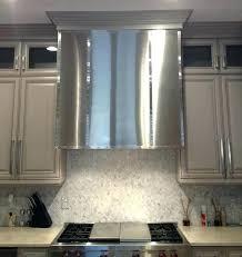stainless steel vent hood. Black Stainless Steel Vent Hood Cladding Contemporary Kitchen Regarding Idea Fan R
