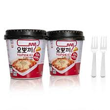 Amazoncom Cheese Tteokbokki Korean Rice Cake Instant 85oz 240g