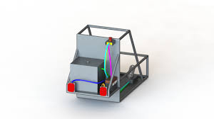 routing cables and wires in solidworks electrical 3d sae baja vehicle routed cables in solidworks electrical 3d