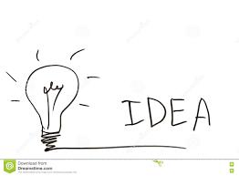 Light Bulb Word Art Lightbulb And The Word Idea On A White Board Stock