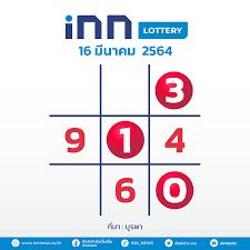 เลขดัง งวดวันที่ 16 มีนาคม 2564 กับ INN Lottery
