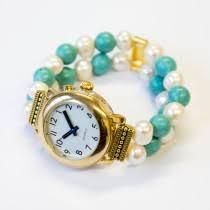 talking watches rnib online shop rnib talking watch turquoise and pearl bracelet strap