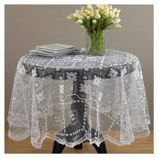 handmade tuscany lace tablecloth 36 round white beige