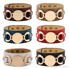 2019 2018 new style monogram leather cuff bracelets for women pulseras blank gold plating leather bracelet men snap jewelry from htlove 1 93 dhgate com